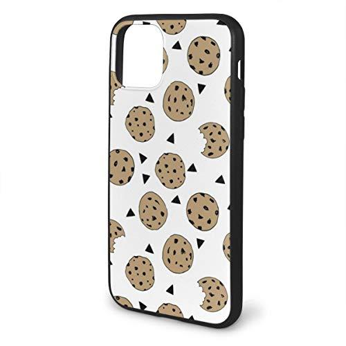 FunnyStar iPhone 11 Pro Max Hoes, Mat Hoesje met zachte randen, Schokbestendig en Anti-Drop Beschermingshoes, Cookies Voedsel Chocolade Chip Koekjes, Iphone 11, Zwart