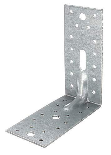 GAH-Alberts 335724 Schwerlast-Winkelverbinder mit Sicke | sendzimirverzinkt | 150 x 150 x 65 mm