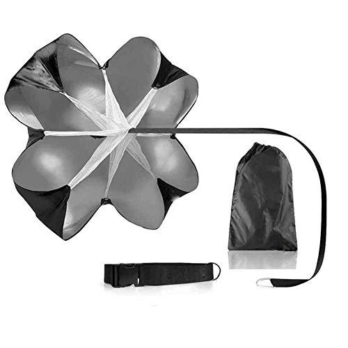 NMDD Ombrello da Allenamento di Resistenza - Paracadute da Calcio, Tracolla Regolabile, migliora l'agilità della velocità di Scatto, Resistente all'Usura Durevole, per Esercizi muscolari di resis