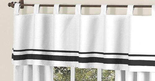White and Black HotelModern Window Valance by Sweet Jojo Designs