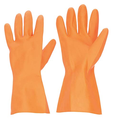 Condor Natural Rubber Latex Chemical Resistant Gloves, 11, 13' Glove Length, Orange Orange 2YEN5 - 1 Each