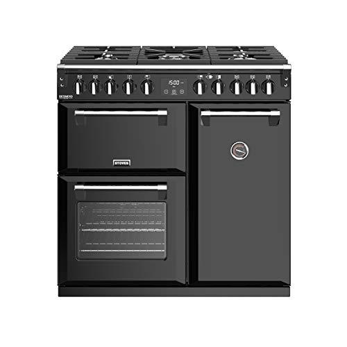 Stoves Richmond S900 DF DeLuxe Range Cooker Gaskocher, Schwarz – Bär und Küchen (Range Cooker, Schwarz, Drehregler, Gasherd, Naturgas