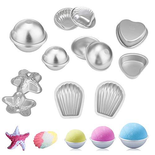CDJX Seifenform Bath Bomb Molds 14 Stücke Badebomben Formen DIY Machen Lieferungen Metallform Kit für Badekugeln handgefertigt und basteln Sie Ihre eigenen Fizzles Crafting Handgemachte