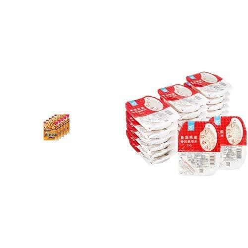 味の素 Cook Do (中華合わせ調味料) あらびき肉入り麻婆豆腐用 甘口 140g×5個 + Happy Belly パックご飯 新潟県産こしひかり 200g×20個(白米) 特別栽培米