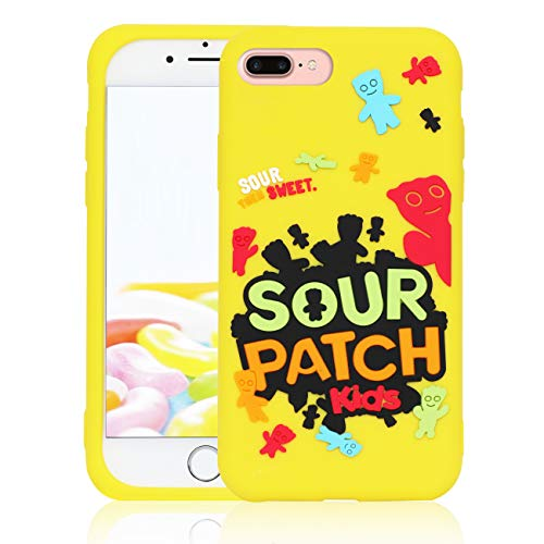STSNano Case for iPhone 6 Plus/6S Plus/8 Plus/7 Plus 5.5', Fashion Cute Kawaii Cartoon Design Soft Silicone Cute Fun Cover, Food Unique for Girls Boys Teens Funny Cases for iPhone 8 Plus Sour Candy