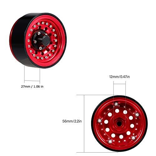 Goolsky 4PCS 1.9in Metall Beadlock Rad Felgennabe für 1/10 RC Crawler Car Kompatibel mit TRX4 Hsp Redcat Traxxas Tamiya Hpi Rc4wd Axial RC Car