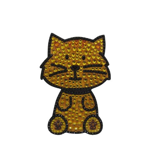 FouFou Dog Sticker à Strass Chat tigré, Orange