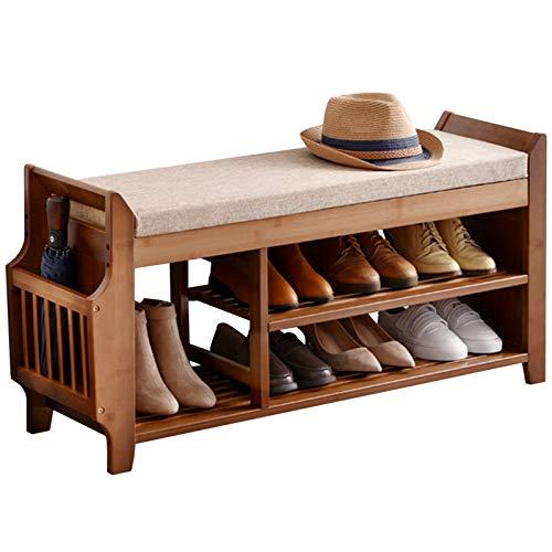 Organizador Zapatos Armario Mueble Zapatero Extra Grande Banco de Zapatos para Entrada, Suelo Zapatero con Cajón y Canasta de Almacenamiento, Hogar Oficina Soporte de Exhibición por Botas Sombrilla Re