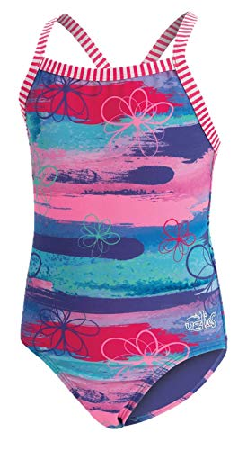 Dolfin Girl's Uglies Prints One Piece Swimsuit (Surfs Up, 12)