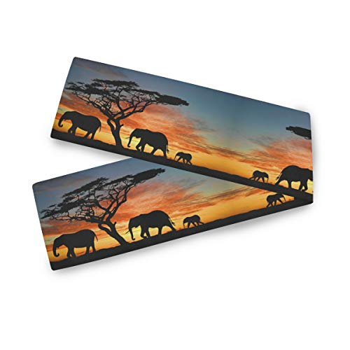 """Wytloe Elephant 13"""" X 90"""" Table Runner Two-sides Long Table Cloth for Wedding Dining Room Kitchen Home Decor"""