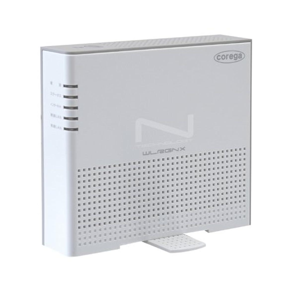 蒸気落胆させる義務Corega 無線LANコンパクトルータ Draft11n CG-WLRGNXW