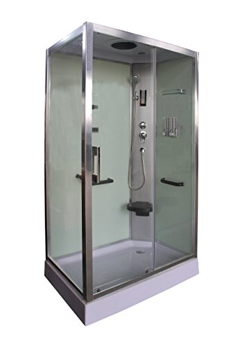 Cabina de ducha blanca DP-8001 SIN SAUNA (120 x 80 x 210 cm)