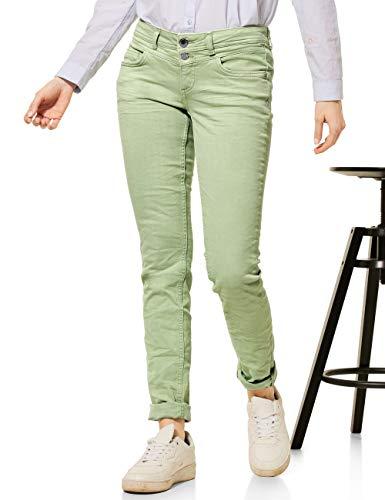 Street One Damen Crissi Jeans, Faded Green Summer wash, W30/L32