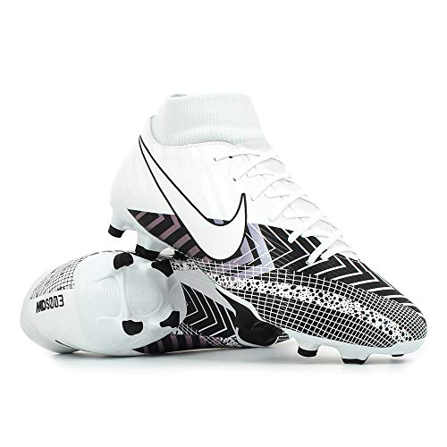 Nike Superfly 7 Academy MDS FG/MG, Zapatillas de fútbol Hombre, Blanco, Negro, 43 EU
