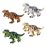 4 Sets Large Size Lifelike Multicoloured 3D Jigsaw Puzzles T-Rex Dinosaur Building Blocks for Children