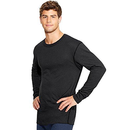 Champion Duofold Thermals Men's Long-Sleeve Base-Layer Shirt, Black, Large