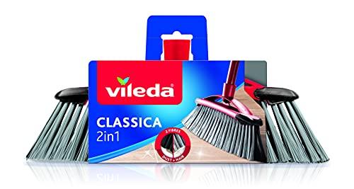 Vileda 141460 Balai intérieur synthétique 2en1, Plastique, Multicolore, 15x34x6 cm