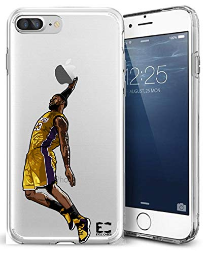 iPhone 6/6S iPhone 7/iPhone 8 Hülle Epic Cases Ultra Slim Crystal Clear Basketball Series Soft Transparent TPU Case Cover Apple (iPhone 6/6s) (iPhone 7) (iPhone 8), iPhone 6/7/8 Plus, LBJ