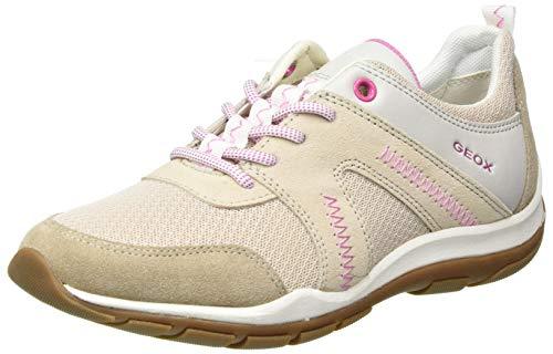 Geox Womens D KANDER A Sneaker, DK BEIGE/BEIGE,39 EU