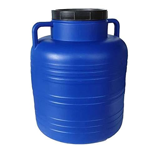 KS24 Weithalsfass 40 Liter Blau Schraubdeckelfass Mostfass Wasser Saft Federweiser Griffhenkel Regenfass Tonne Kunststoff Plastik Fass