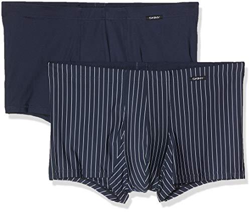 Skiny Herren Unterhose 2er Pack Hipster, Mehrfarbig (Crownbluestripe Selection 2527), Large (Herstellergröße: L)