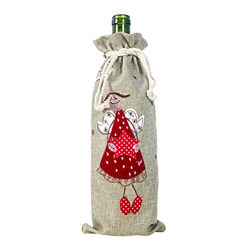 HIAHA Wine Bottle Bags, Storage Bottles Red Wine Bag Perfect for Christmas Wine Gifts, Ideal Xmas Party Decor Angles
