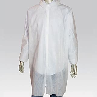 Royal White Poly Pro Lab Coats, Size 3XL, Package of 30