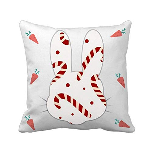 cold master DIY lab Christmas Crutch White Repeat Festival Rabbit Throw Pillow Square Cover