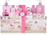 BRUBAKER Cosmetics Set de Baño y Ducha'Classic Rose' - Fragancia de Rosas - Set de Regalo de Belleza de 17 piezas en Caja de Regalo Vintage