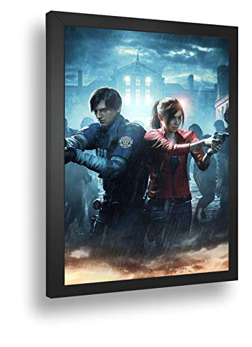 Quadro Decorativo Poste Resident Evil 2 Remake Classico