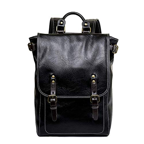 Casual backpack, Pu leather backpack,men's PU leather backpack, waterproof large capacity multi-function laptop backpack
