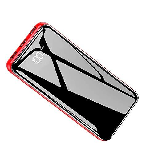 Powerbank 25000mAh Externer Akku Große Kapazität Tragbares Ladegerät mit LCD Digital Display Ultra Kompakter Batterie Pack 2 Eingängen 3 Ausgängen USB Power Pack für Handy, Tablet und Mehr