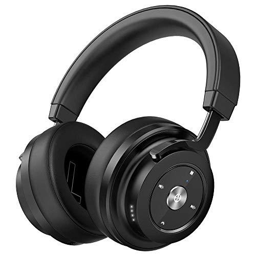 DSAX Bluetooth koptelefoon Over-ear draadloze hoofdtelefoon Opvouwbare stereo oortelefoon headset met microfoon for de PC Music MP3 (Color : Black)