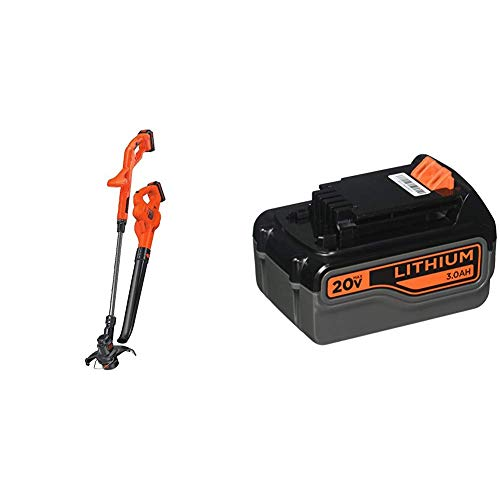 Buy Bargain BLACK+DECKER 20V MAX Lithium String Trimmer/Edger with Extra Lithium Battery 3.0 Amp Hou...