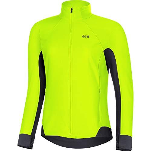 GORE WEAR R3 Damen Langarmshirt Partial GORE WINDSTOPPER, gelb (neon yellow/black) , 40