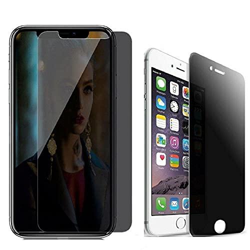 3 piezas Protector de pantalla de cristal templado de privacidad anti-espía, para iPhone X XR XS Max 7 8 plus-Para iPhone Xs