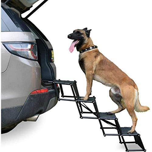 Perro Escalera, portátil Paso perro de coches Escalera Escalera plegable for mascotas Rampa for perros y gatos, for camionetas, vehículos utilitarios deportivos, sofá y una cama cubierta uso al aire l