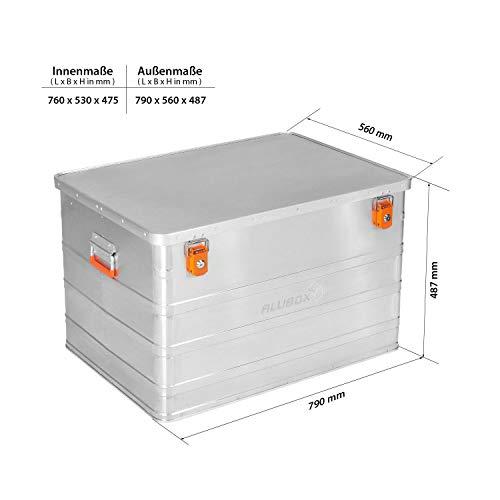 ALUBOX B184 - Aluminium Transportbox 184 Liter, abschließbar - 6