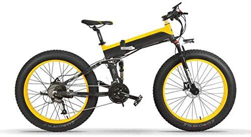 XDHN Bicicleta Eléctrica Plegable Marco De Aluminio De Aviación Motor Sin Escobillas De 400 W Batería De Litio 48V10Ah Adecuado para Trabajo, Escuela, Compras, Viajes, Ocio