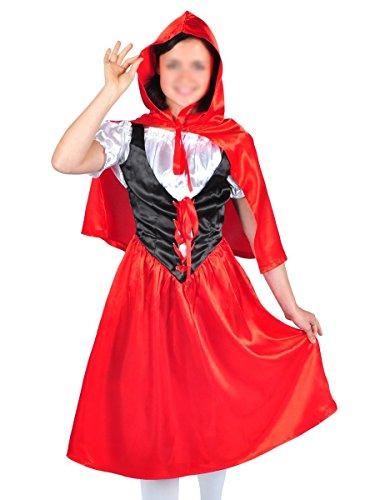 CoolChange Costume di Cappuccetto Rosso con Mantello, Taglia: M