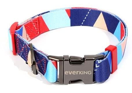 Collare regolabile moderno multicolore per cani di taglia grande, media e piccola taglia, traspirante, collare per cani, accessori per cani in nylon (4001-2)