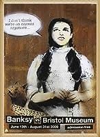 ポスター バンクシー basnksy bristol Dorothy 2009 額装品 ウッドベーシックフレーム(ナチュラル)