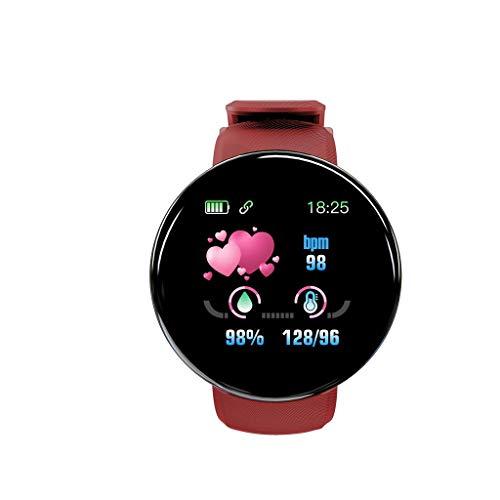 "Smartwatch Damen Herren Fitness Tracker Uhr 1.3\"" HD Voll Touchscreen Kompatibel Android iOS Schrittzähler Watch Pulsmesser Schlafmonitor Mehrere Sportmodi Wasserdicht IP65 GPS Sport Armbanduhr (Rot)"
