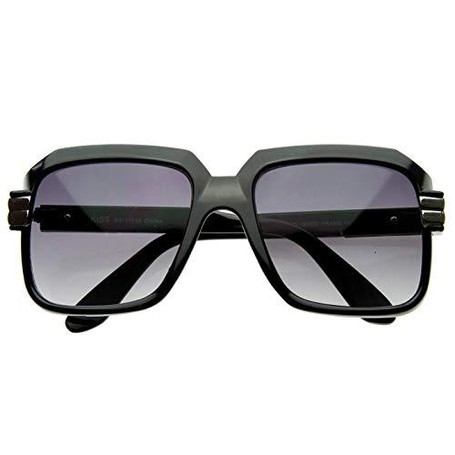 KISS Gafas de sol OLD SCHOOL mod. RUN-DMC - hombre mujer HIP-HOP rapero vintage FREESTYLE - NEGRO