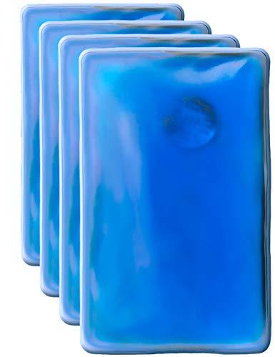 Hometools.UE® - 4 coussin chauffant - Bouillotte de poche - Coussin en gel, chauffe-main - Auto-chauffant - Longue durée - Réutilisable - 10 x 6,5 cm