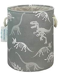 8. LANGYASHAN Collapsible Dinosaur Skeleton Canvas Laundry Basket