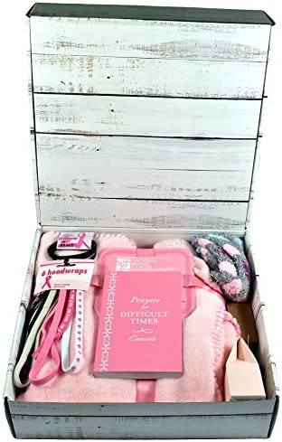 Gift Basket Village Breast Cancer Care Package with Comfort Items for Patients Fighting the product image