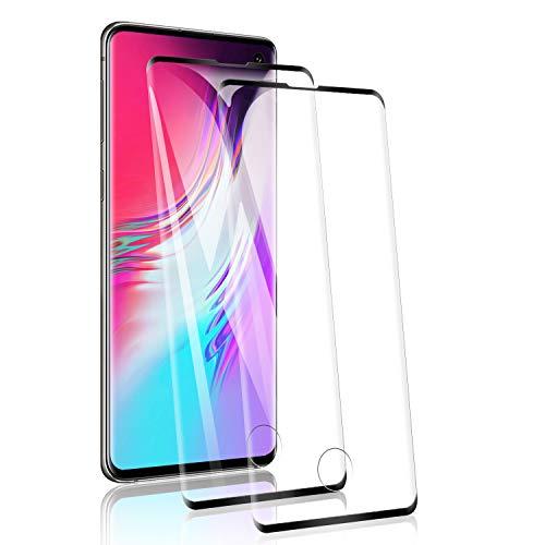 RSSYTZ [2 Pack Protector de Pantalla para Samsung S10 Cristal Templado, [9H Dureza] [Resistente a Arañazos] [Admite la función de Huella Digital] Vidrio Templado Screen Protector
