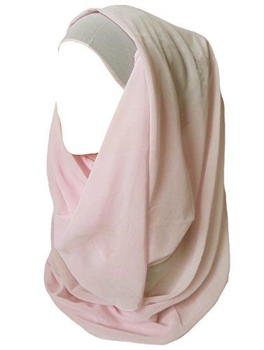 Lina & Lily Lina & Lily Damen Muslim Hijab Kopftuch Schal (Hellrosa)