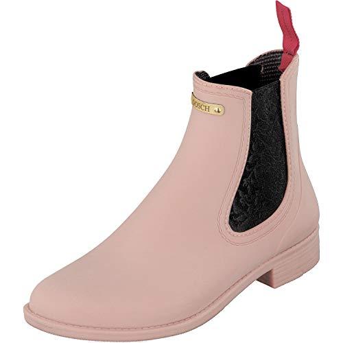 GOSCH SHOES Damen Chelsea Gummistiefel Boots Stiefelette 7105-310 in 4 Farben (39, Hortensie)